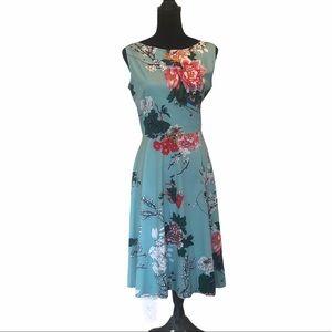 Blue Enchantress  fit & flare floral dress large